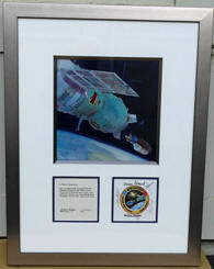 ASTP FLOWN and hand signed Beta Mission Emblem