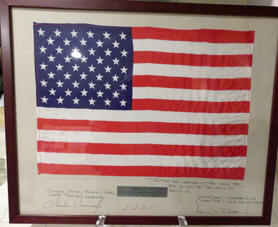 "Apollo 12 FLOWN 11""x17"" Flag"