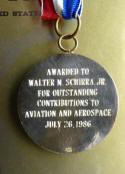 Wally Schirra Aviation Hall of Fame Medal